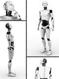 Männliche Robotercollage. Lizenzfreie Stockfotografie
