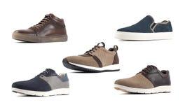 Männliche Schuhe über Weiß, mit Beschneidungspfad lizenzfreie stockfotografie