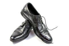 Männliche schwarze Schuhe Lizenzfreie Stockfotografie