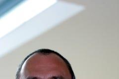 Männliche Stirn lizenzfreie stockfotos