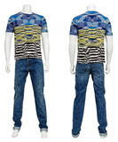 Männliche Strickjacke auf Mannequin Stockbild