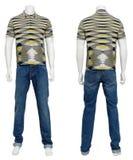 Männliche Strickjacke auf Mannequin Lizenzfreie Stockfotos