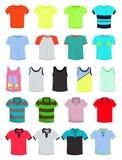 Männliche T-Shirts lizenzfreie abbildung
