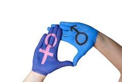 Männliche und weibliche Hand Stockfotografie