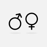 Männliche und weibliche Ikone Lizenzfreies Stockfoto