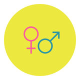 Männliche und weibliche Ikone Lizenzfreie Abbildung