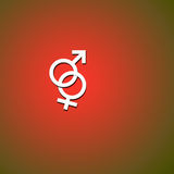 Männliche und weibliche Symbole Stockbilder