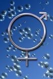 Männliche und weibliche Symbole Lizenzfreie Stockfotos
