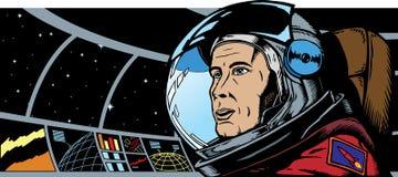 Männlicher Astronaut im Platz Lizenzfreies Stockfoto