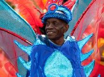 Männlicher Ausführender im Notting- Hillkarneval Lizenzfreies Stockfoto