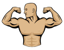 Männlicher Bodybuilder Logo Illustration Stockfoto