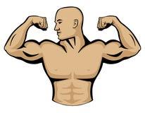 Männlicher Bodybuilder Logo Illustration Stockfoto