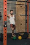 Männlicher Crossfit-Trainer Portrait stockfoto
