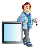Männlicher Doktor, Illustration Lizenzfreie Stockfotografie