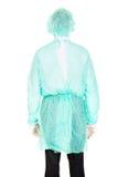 Männlicher Doktor mit Schutzkleidung Stockbild