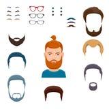 Männlicher Gesichtsschaffungssatz Stockfoto