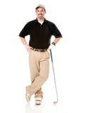 Männlicher Golfspieler Lizenzfreie Stockfotos
