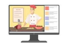 Männlicher on-line-Chef lizenzfreie abbildung