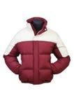 Männlicher Mantel getrennt auf Weiß lizenzfreies stockfoto