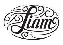 Männlicher Name Liam Stockfotos