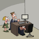Männlicher neuer Büroangestellter Stockfoto