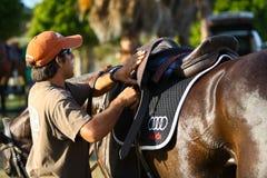 Männlicher Polo-Spieler Stockfotografie