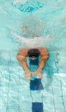 Männlicher Schwimmer Stockfoto
