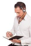 Männlicher Sekretär oder persönlicher Assistent Stockfotos