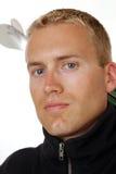 Männlicher Skifahrer Lizenzfreie Stockbilder