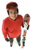 Männlicher Skifahrer Lizenzfreie Stockfotos