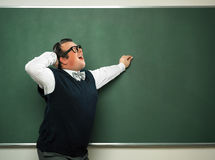 Männlicher Sonderling in der ekstatischen Stimmung Lizenzfreie Stockbilder