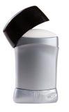 Männlicher Stock des desodorierenden Mittels lokalisiert auf weißem Hintergrund stockbild