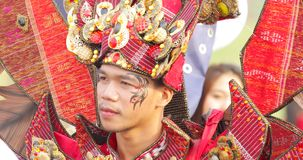 Männlicher Teilnehmer von Parade Asienspieles 2018 stock footage