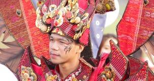 Männlicher Teilnehmer von Parade Asienspieles 2018 stock video
