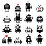 Männlicher und weiblicher Roboter, künstliche Intelligenz Lizenzfreies Stockfoto