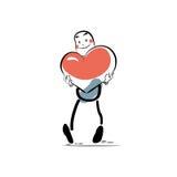Männlicher Valentinstag Herz der Liebe Stockfotos