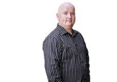 männliches Übergewicht der Dreißigerjahre im Smokinghemd Stockfotografie