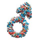 Männliches Geschlechtssymbol von den Medizinpillen, Kapseln, Tabletten Männer ` s Gesundheitskonzept Wiedergabe 3d lizenzfreie abbildung