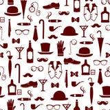 Männliches Muster der Weinlese Lizenzfreie Stockbilder
