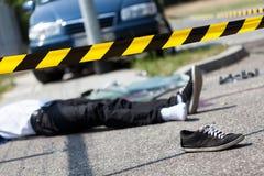Männliches Opfer des Autounfalls lizenzfreie stockfotos