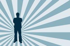 Männliches Schattenbild Stockfoto