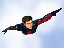 Männliches Superheldflugwesen lizenzfreie abbildung