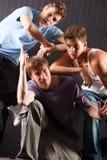 Männliches Tänzerteam Lizenzfreie Stockfotografie