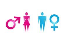 Männliches und weibliches Symbol Stockfotos
