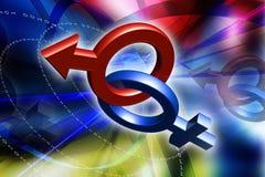Männliches und weibliches Zeichen lizenzfreie abbildung