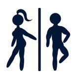 Männliches und weibliches Zeichen - Illustration stock abbildung