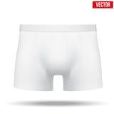 Männliches weißes Unterhosenmemorandum Auch im corel abgehobenen Betrag Stockfoto