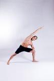 Männliches Yogabaumuster Stockbild