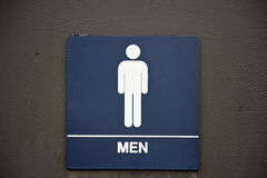 Mäns badrumtecken Arkivfoton