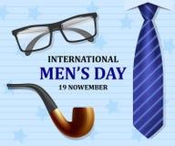 Mäns bakgrund för begrepp för dag, realistisk stil royaltyfri illustrationer
